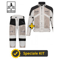 Kit Freezer Man CE Grigio - Giacca moto Befast estiva + Pantaloni moto Befast estivi