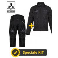 Kit Freezer Man CE Nero - Giacca moto Befast estiva + Pantaloni moto Befast estivi