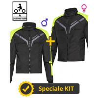 Kit Coppia Gamma CE Nero Giallo- Giacca moto Certificata Befast uomo + donna