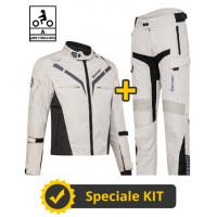 Kit Gamma CE Grigio- Giacca moto certificata Befast + Pantaloni moto certificati Befast