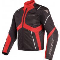 Giacca moto Dainese SAURIS D-DRY Nero TOUR Rosso Grigio Chiaro