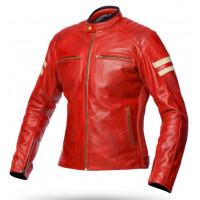 Giacca moto donna pelle estiva Spyke MILANO 2.0 LADY Rosso