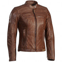 Giacca moto donna pelle Ixon SPARK LADY marrone camel