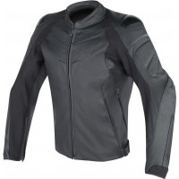 Giacca moto pelle Dainese Fighter nera