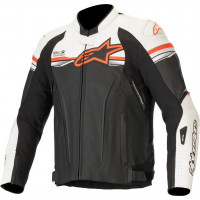 Giacca moto racing pelle Alpinestars GP-R V2 TECH-AIR COMPATIBLE Nero Bianco Rosso