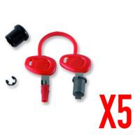 Givi z1382 kit ricambio chiavi per 5 valigie