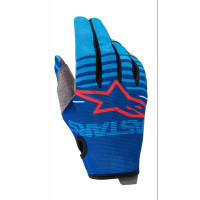 Guanti cross Alpinestars RADAR Blu Verde acqua