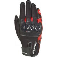 Guanti moto pelle e tessuto estivi Ixon RS RISE AIR Nero Rosso