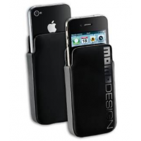 Custodia Momo Design Hard Sleeve nera per Iphone 4
