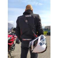 Cinghia tracolla porta casco Befast aggancio micrometrico Nero