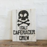 Insegna di legno Berider Italy Caferacer Crew