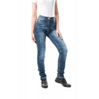 Jeans moto donna Motto HIRO con rinforzi in fibra aramidica Blu