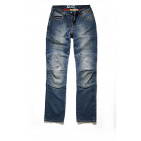 Jeans moto donna PMJ Carolina Blu