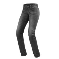 Jeans moto donna Rev'it Madison 2 Ladies Grigio Scuro slavato L32