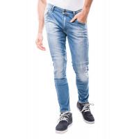 Jeans moto Motto IMOLA con rinforzi in fibra aramidica Blu Chiaro