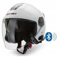 Casco jet Befast JET Connect Bianco con interfono integrato