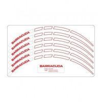 Kit adesivi ruote universali Barracuda bianco per maxiscooter