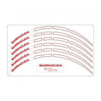 Kit adesivi ruote universali Barracuda Bianco per moto