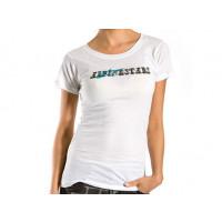 T-shirt donna Alpinestars Letterpress Skinny bianco