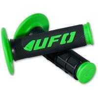 Coppia manopole UFO CHALLENGER Cross-Enduro Verde