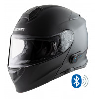 Casco modulare Befast Connect con interfono integrato Nero opaco