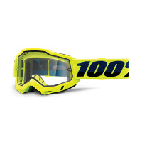 Occhiali cross 100% Accuri 2 enduro moto Giallo lente trasparente