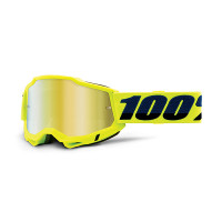 Occhiali cross 100% Accuri 2 Giallo lente a specchio oro