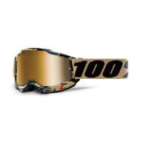 Occhiali cross 100% Accuri 2 tarmac lente a specchio oro