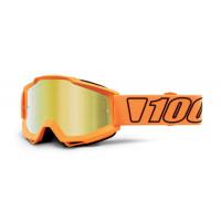 Occhiali cross 100% Accuri Luminari lente a specchio oro