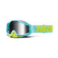 Occhiali cross 100% Racecraft Pinacles lente a specchio argento