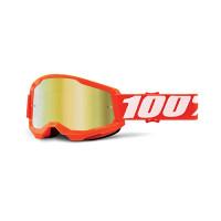 Occhiali cross 100% Strata 2 Arancio lente a specchio oro