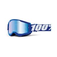 Occhiali cross 100% Strata 2 Blu lente a specchio blu