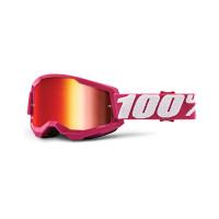 Occhiali cross 100% Strata 2 fletcher lente a specchio rossa