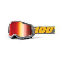 Occhiali cross 100% Strata 2 izipizi lente a specchio rossa