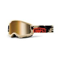 Occhiali cross 100% Strata 2 kombat lente a specchio oro