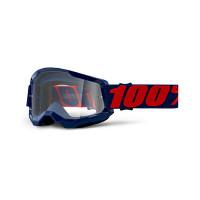 Occhiali cross 100% Strata 2 masego lente trasparente