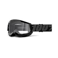 Occhiali cross 100% Strata 2 Nero lente trasparente