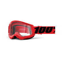 Occhiali cross 100% Strata 2 Rosso lente trasparente