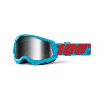 Occhiali cross 100% Strata 2 summit lente a specchio argento