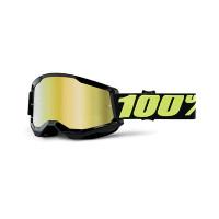 Occhiali cross 100% Strata 2 upsol lente a specchio oro