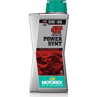Olio motore lubrificante Motorex POWER SYNT 4T 5W-40 JASO MA2 per motori 4T 1 litro