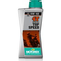 Olio motore lubrificante Motorex TOP SPEED 4T 5W-40 JASO MA2 per motori 4T 1 litro