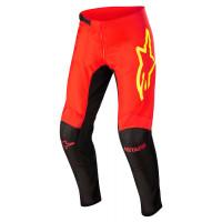 Pantaloni cross Alpinestars FLUID TRIPPLE Nero Rosso Fluo Giallo Fluo