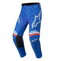 Pantaloni cross Alpinestars RACER BRAAP Blu Bianco