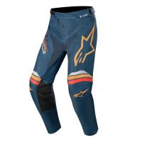 Pantaloni cross Alpinestars RACER BRAAP Blu navy Arancio