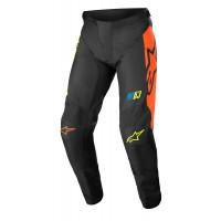 Pantaloni cross bambino Alpinestars RACER COMPASS Nero Giallo Fluo Corallo
