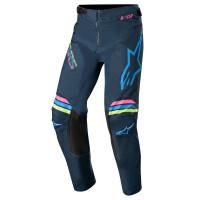 Pantaloni cross bambino Alpinestars YOUTH RACER BRAAP Blu navy Verde acqua Rosa fluo
