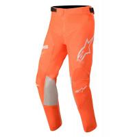 Pantaloni cross bambino Alpinestars YOUTH RACER TECH Arancio fluo Bianco Blu