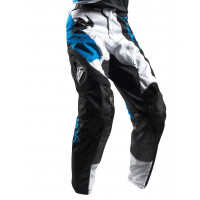 Pantaloni cross Thor Pulse blu bianco