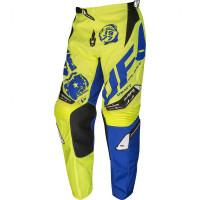Pantaloni cross UFO Draft Giallo fluo Blu